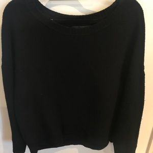 Rag & Bone Black Wool Oversized Sweater